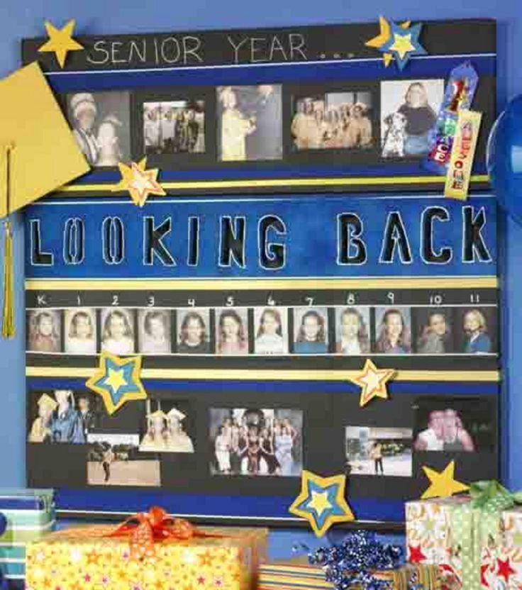 graduation memories love adding the school pictures from kindergarten through middle school and high school great decoration for a graduation party
