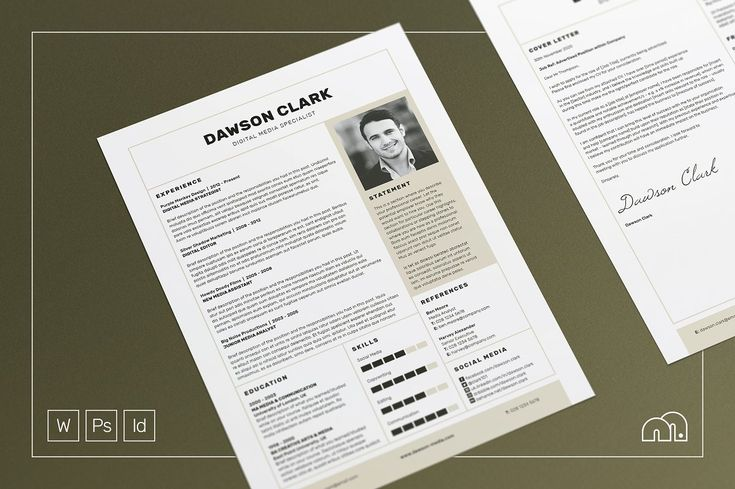 Essential Resume - Antony by bilmaw creative on @creativemarket - free beautiful resume templates