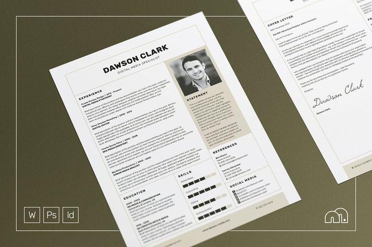 Professional Resume Template | CV Template with Cover Letter Word | Modern Resume | Instant Digital Download | Nursing Resume | Resume | CV #cvtemplate #lebenslauf