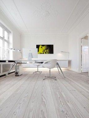 Raw Wood Flooring - Workspace Whites - Office Furniture - Modern Minimalistic Home Exteriors & Interiors- HOME INTERIOR DESIGN IDEAS FOR YOUR MODERN MINIMALIST CHIC SELF - HOLLYWOOD HILLS LIFESTYLES - EXPENSIVE TASTE  - Karina Porushkevich #karinarussianp
