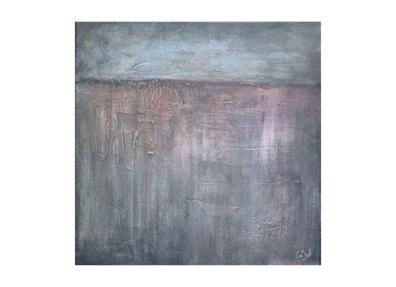 Grey abstract painting. Textured painting. Contemporary painting. Lyrical abstraction.Modern gray painting. Wall art. Home decor. Office decor.
