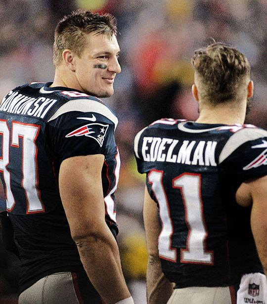 My TWO FAVORITE PLAYERS EVER!!!  JULIAN AND ROB GRONKOWSKI!  Love them!!!!!!