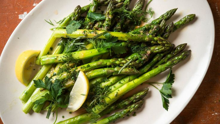 For the first-of-the-season asparagus, keep it simple with butter, lemon and sweet herbs For the best texture, peeling the stalks really makes a difference