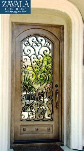 This Wrought Iron door shows that beauty is in the details.