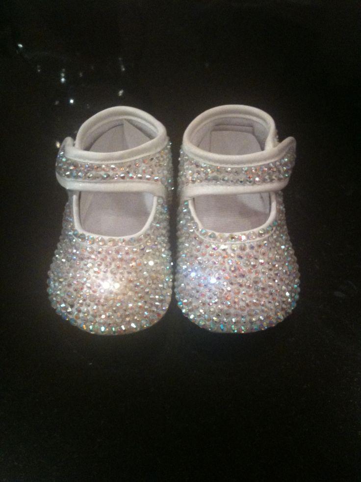 Custom order ... Crystal baby shoes ...