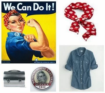 entertaining grace six easy costumes that you already own getting your sheet together - Rosie The Riveter Halloween Costume