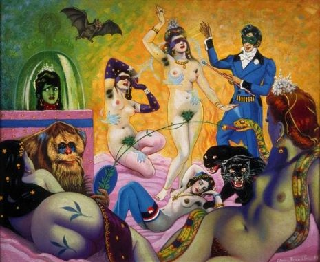 Naughty nuns, Nosferatu and BDSM: Surreal works by the master of 'anything goes' Clovis Trouille   Dangerous Minds