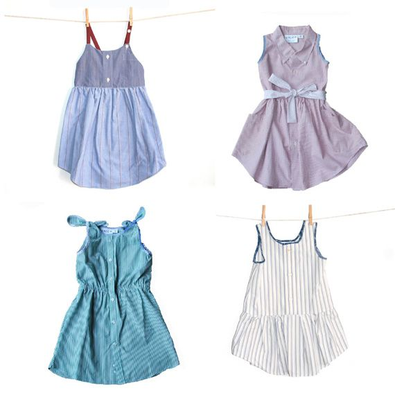 Men's Shirts Into little girl dresses