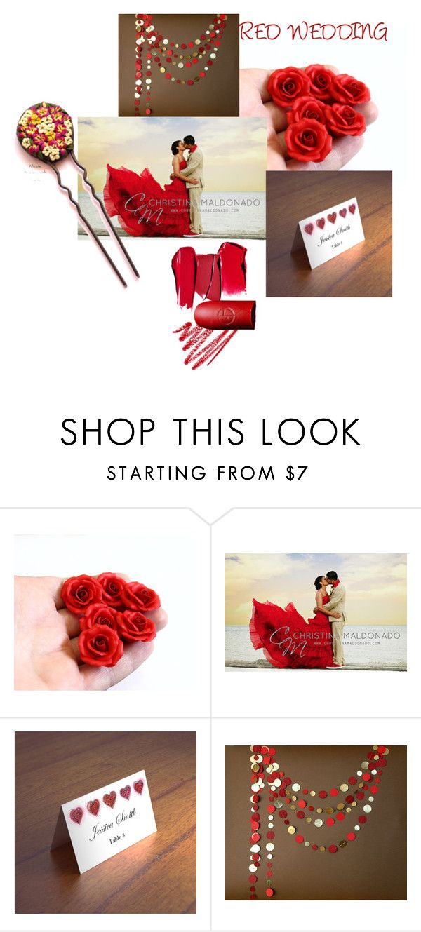 """""""Red Wedding"""" by nikush-14263369628 ❤ liked on Polyvore featuring Winter, redlipstick, topfashion, 2017 and Nikush"""