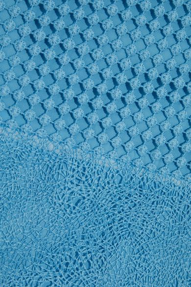 Diane von Furstenberg - Paneled Lace Dress - Blue - US