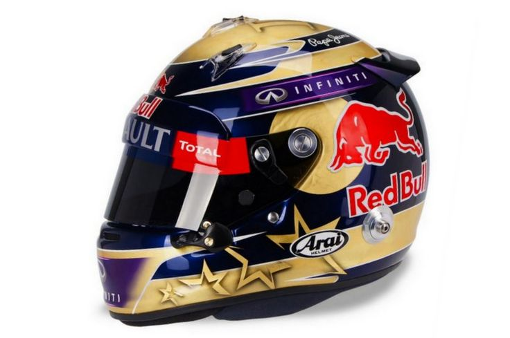 Vettel to race with gold laden helmet to celebrate fourth F1 world title.