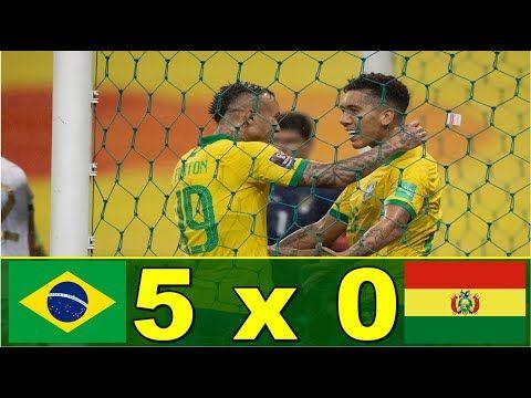 Brasil 5 X 0 Bolivia Melhores Momentos Eliminatorias 2020 Bolivia Brasil Gol