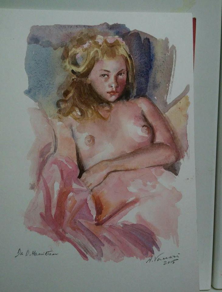 Da David hamilton - aquerello   Alfonso Vaccari