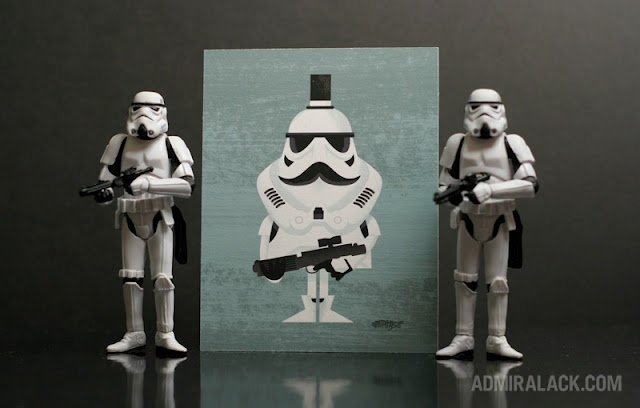 "Stormtroopers with a ""Select your Hero!"" mini print by Christopher Lee"