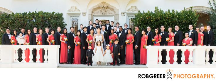 Rob Greer Photography - Huge Wedding Party at Ambassador Mansions and Gardens: This is the largest collection of bridesmaids, groomsmen, and bridesmen that I've ever photographed. To save you the effort of counting faces, there are forty-six (46) men, women, and children in this incredibly huge wedding party. I'm often asked why the bride and groom chose so many folks to be attendants in their wedding and I can only answer for the groom's side. In his case, his groomsmen included lifelong…
