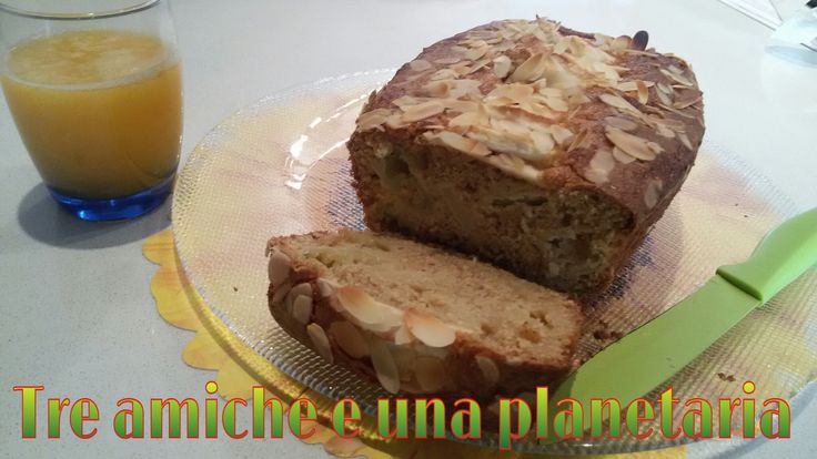 Plumcake soffice integrale alle mele, mandorle e cannella