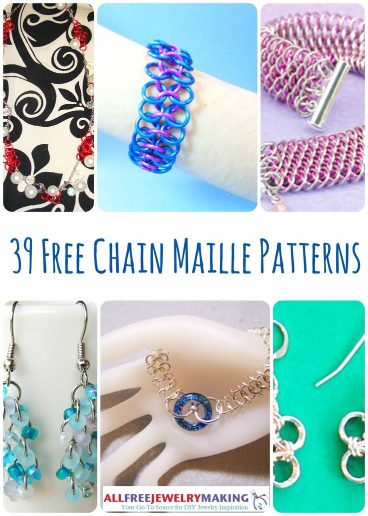 39 Free Chain Maille Jewelry Patterns | AllFreeJewelryMaking.com