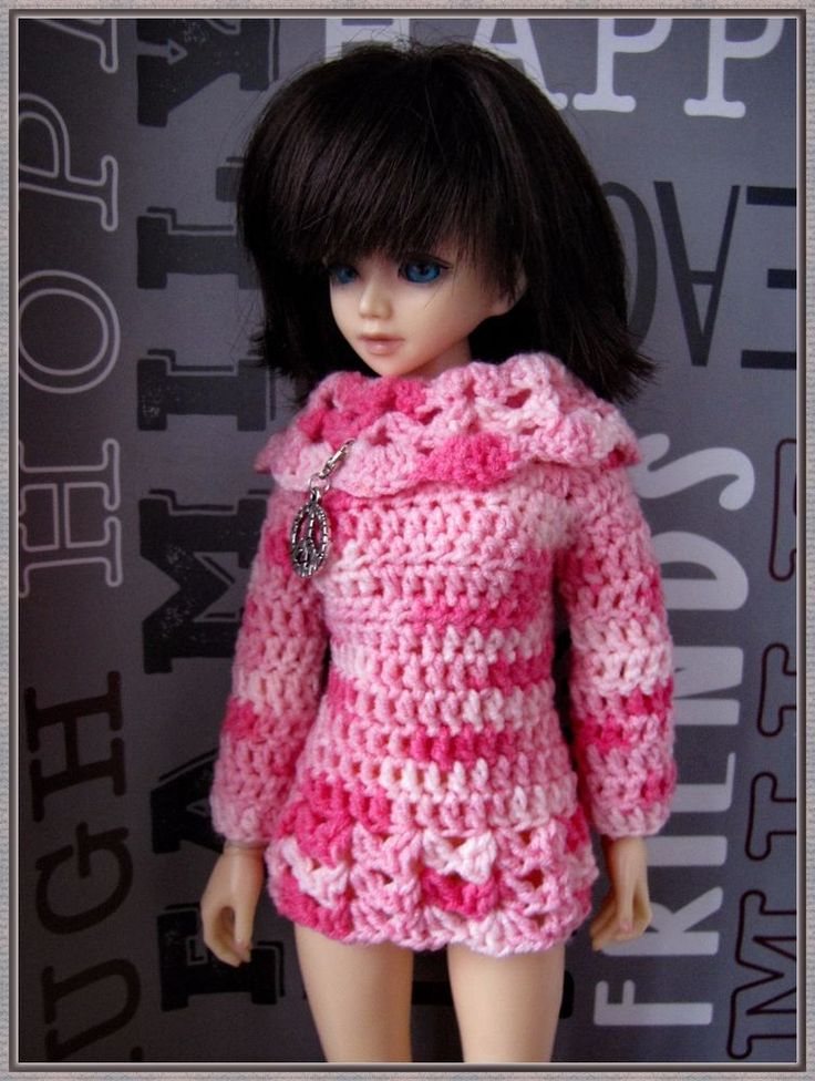 Crocheted-sweater-or-dress-for-BJD-MSD