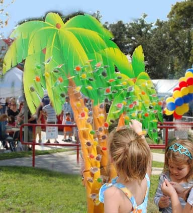 Carnival Game Tropical Lollipop Tree Has nose pick, fish cup and other cool games