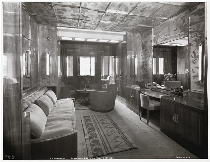 S s normandie stateroom 65 with private veranda for Chambre design normandie