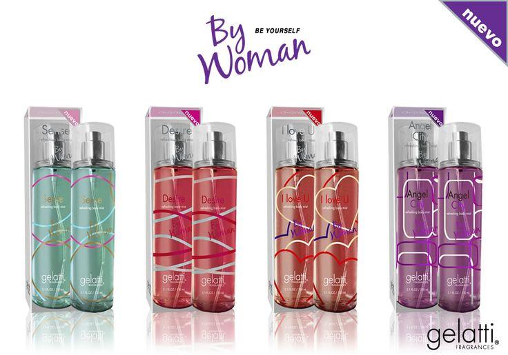 Nueva linea de By Woman llamada Refreshing Body Mist, en sus versiones:  - I Love U - Sense - Angel City - Desire