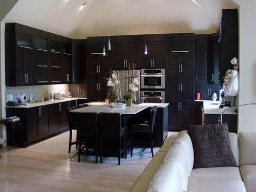 92 Best Images About Wood Kitchen Cabinets On Pinterest Black Granite Oak Cabinets And Solid