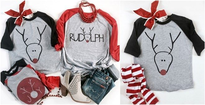 Rudolph Red Nose Custom Raglans | Youth & Adult | Jane