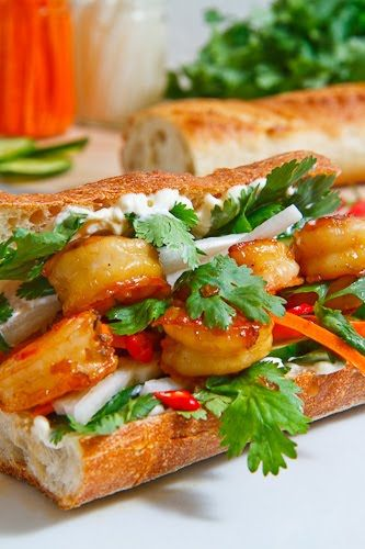 Vietnamese Caramel Shrimp Banh Mi {Closet Cooking}