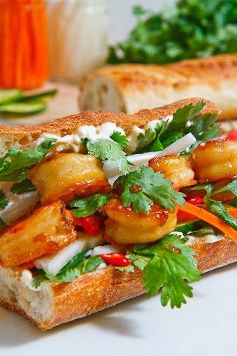 I love a pork Vietnamese Banh Mi sandwich.  I bet this is good too.