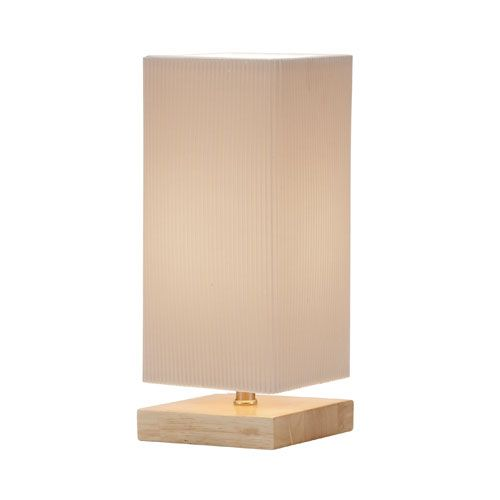 "Angelina Natural Table Lantern Lamp by Adesso; 12"" high x 5"" square; in-line switch; 60W bulb; $47.50 -- TO PUT ON LOWEST OPEN SHELF OF RIGHT BOOKCASE"