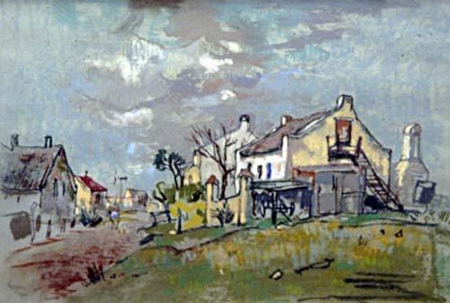 GREGOIRE BOONZAIER Pastel 39 x 52 cm 'Caledon Houses'