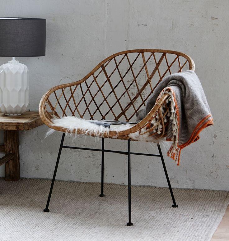 Hübsch Interior   Stuhl Aus Rattan Im Naturlook Design U0026 Komfort Aus  Dänemark