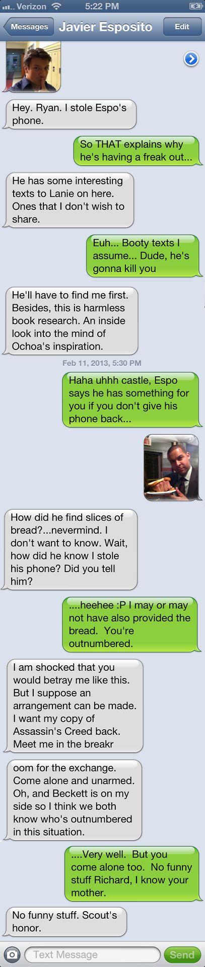 Mine and my friend's Castle fanblog, Texts from Rysposito! Castle fans, check it out! #castle #textsfromrysposito