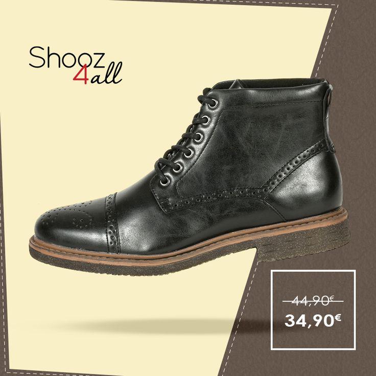 Μαύρα μποτάκια με μπεζ κρεπ σόλα. Κατασκευασμένα από άριστης ποιότητας συνθετικό δέρμα, με εύκαμπτη και αντιολισθητική σόλα, ανδρικά παπούτσια που θα σας συνοδεύσουν με άνεση και ξεχωριστό στυλ σε κάθε σας εμφάνιση. http://www.shooz4all.com/el/andrika-papoutsia/andrika-mpotakia/andrika-mpotakia-me-krep-sola-b85-7f9-29g-detail #shooz4all #andrika #mpotakia