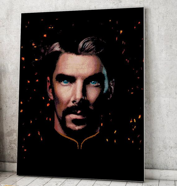 Check out this item in my Etsy shop https://www.etsy.com/ru/listing/514949361/doctor-strange-marvel-comics-superhero