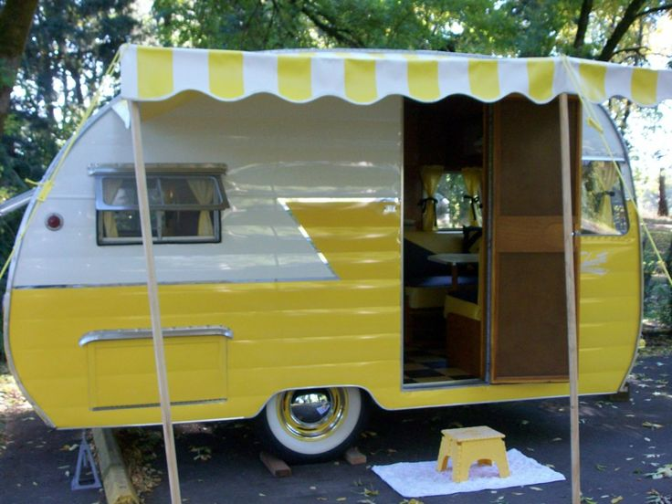 a yellow shasta lets go camping pinterest caravanes. Black Bedroom Furniture Sets. Home Design Ideas