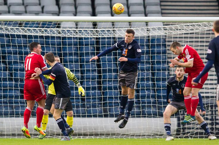 Queen's Park's Adam Cummins in action during the SPFL League One game between Queen's Park and Albion Rovers.