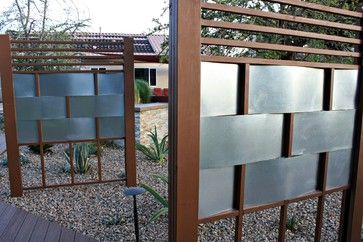 aluminum privacy fence Design Ideas, Pictures, Remodel and Decor