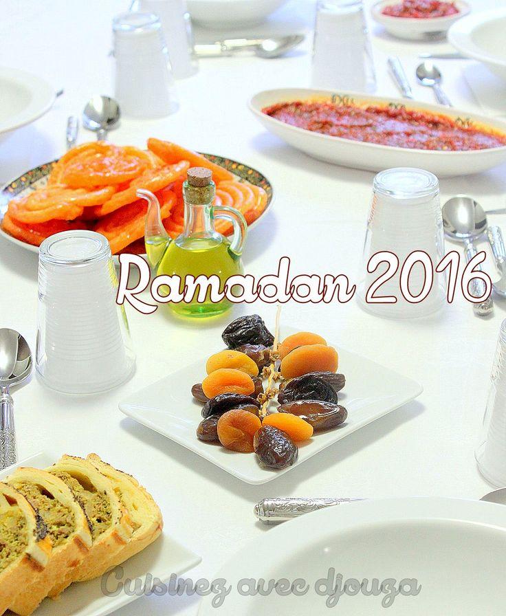 Voici quelques idées de recette de ramadan 2016 pour vos menus, repas ou plat avec des recettes de cuisine algérienne ou orientale, facile et spécial