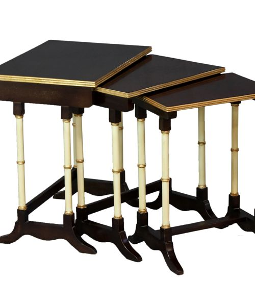 Nest Of Tables - Gold.                                                   Measurements 550 x 340 x 550.