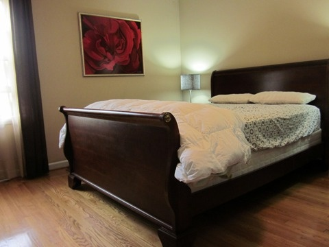 queen cherry sleigh bed for sale for the home pinterest. Black Bedroom Furniture Sets. Home Design Ideas