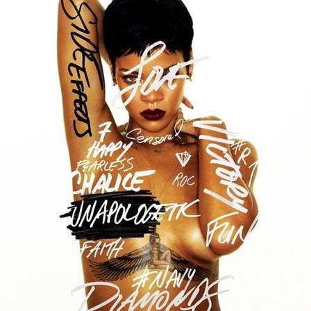 """Rihanna: Para divulgar seu sétimo álbum de estúdio, """"Unapologetic"""",   ela armou um esquema usando o número sete como amuleto. De acordo com a MTV americana, a cantora vai realizar uma série de sete shows em sete dias, passando por sete países diferentes, e tudo isso a bordo de um Boeing 777. Esta foto é a Capa do Novo Álbum de Rihanna. Foto: Reprodução (Instagram)."""