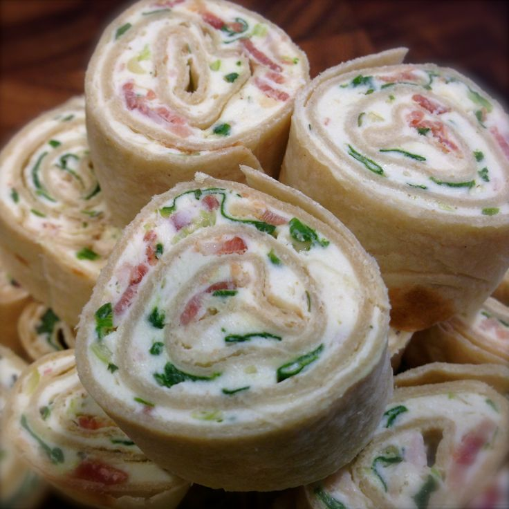 Cream Cheese, Spinach, Bacon and Scallion Pinwheels… | You Betcha Can Make This!