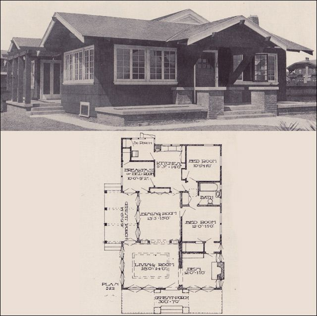 17 best images about vintage house plans 1910s on for Vintage bungalow house plans