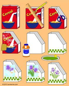 Magazine Holder Cereal Box | ... of how to make magazine or book holders from empty cereal boxes