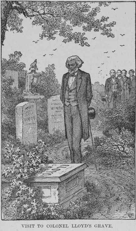 Frederick Douglass visits the grave of his slave master, Colonel Lloyd