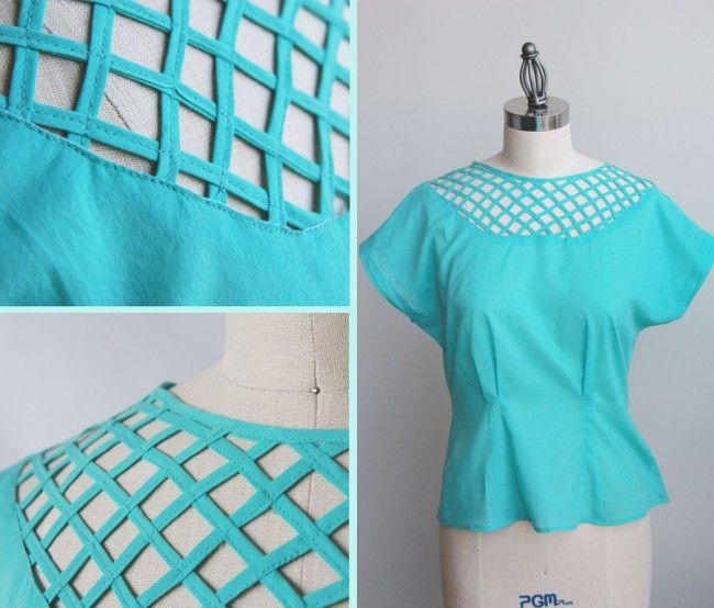 basket weave inset- Colette Patterns