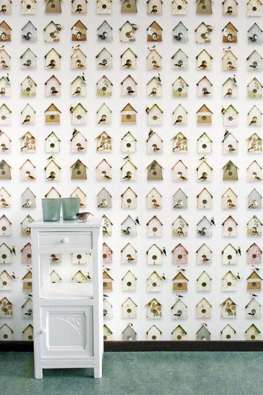 #wallpaper #birdhouse #studioDitte