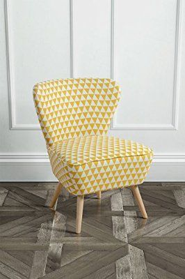MY-Furniture - 1 x Fauteuil d'appoint motif triangles jaune 133€
