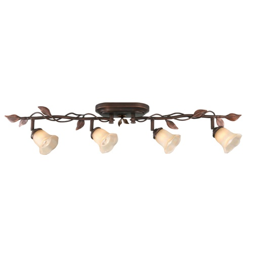 Zoomed: allen + roth 4-Light Bronze Traditional Track Lighting